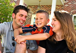 Happy family looking to buy a home through The Frugal Broker