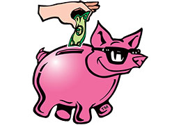 "The Frugal Broker, LLC ""pig"" logo"